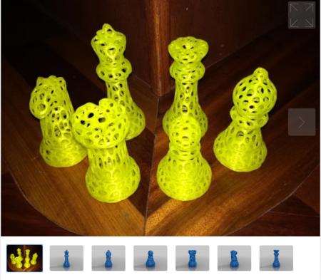 Voronoi Chess Set