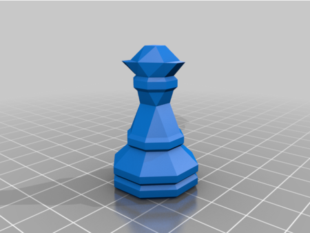 3D-Print-Optimized Geometric Chess Set Pieces