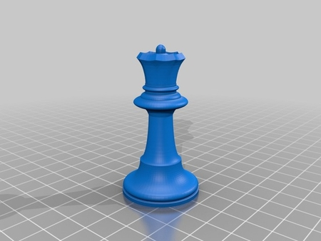 OpenSCAD De Ajedrez Simple Impresión