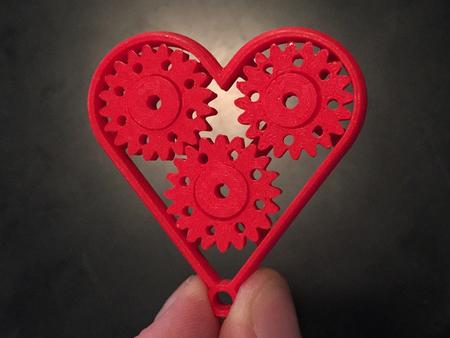 Heart Gear Keychain