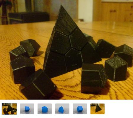 Face-centered Cubic Voroni Tetrahedron