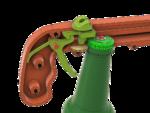 Modelo 3d de Abridor de botella y tapón de la pistola! para impresoras 3d