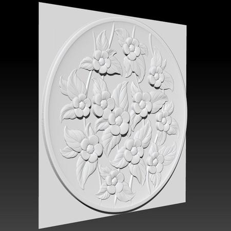 Decorative carved flower plate_briarena8185@gmail.com