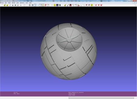 Deathstar Jabón-en-una-Cuerda 3D Moldmaking