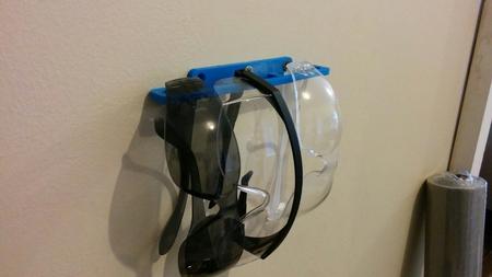 Gafas de seguridad soporte de montaje en pared