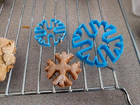 Copo de nieve de pasta de azúcar cortador