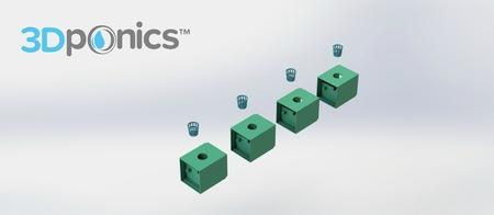 Maceta - 3Dponics Complemento y Crecer Jardín