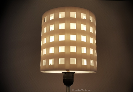 3D-printable lampshade for standard light fixture (concentric perforated shading walls)