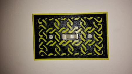 Viking temática de la cubierta del interruptor de la luz