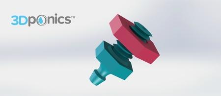 Goteo Emisor V1 (Perno) - 3Dponics Emisores y Tapones