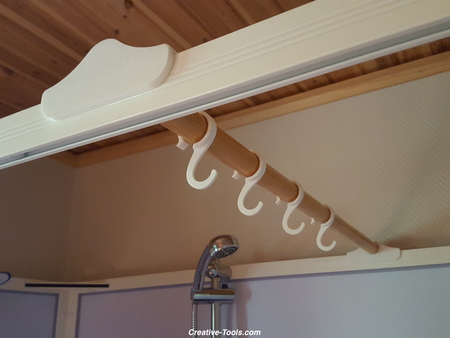 Cabina de ducha con gancho accesorios