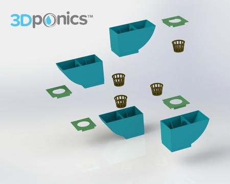 Tapa - 3Dponics Jardín de Hierbas