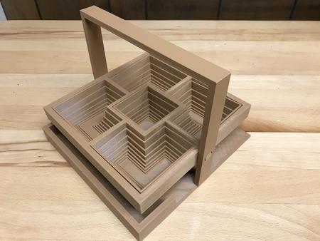 Pop up square basket