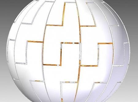 Dyson Sphere lamp