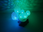 Magic mushrooms - a lighted decoration  3d model for 3d printers