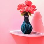 Inter cross spiral flower vase  3d model for 3d printers