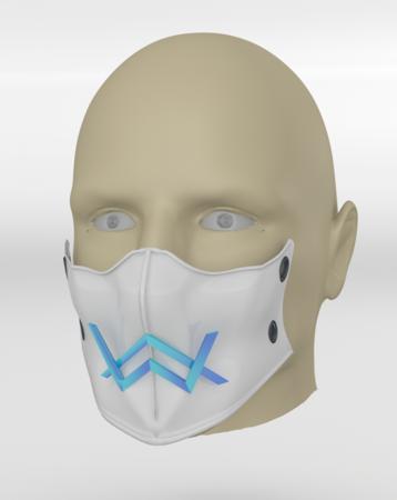 Alan Walker coronavirus máscara de protección (COVID-19) MOD 2 #3DvsCOVID19