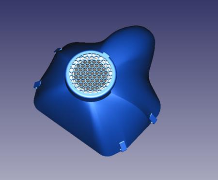Máscara protectora de la impresora 3D