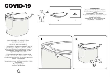 Spray de protección de la visera - DAGOMA versión sin elástico - Covid-19