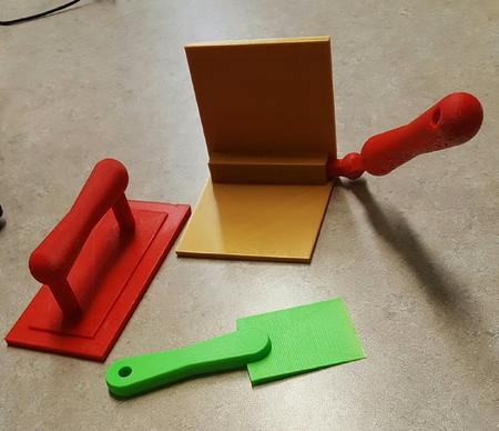 Bolsa de herramientas set de regalo (muro seco en las curvas de la herramienta, float, y raspador de pintura)
