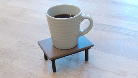 3D imprimibles mesa de café (montaña rusa)
