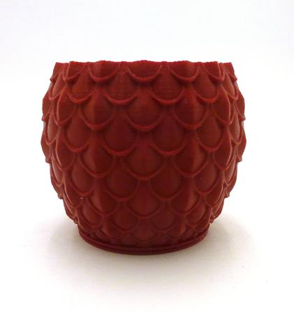 Dragon Scale Test Vase