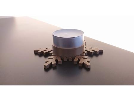 Snowflake led candle holder