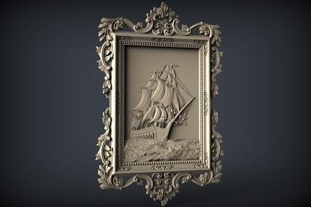 ship frame cnc art router
