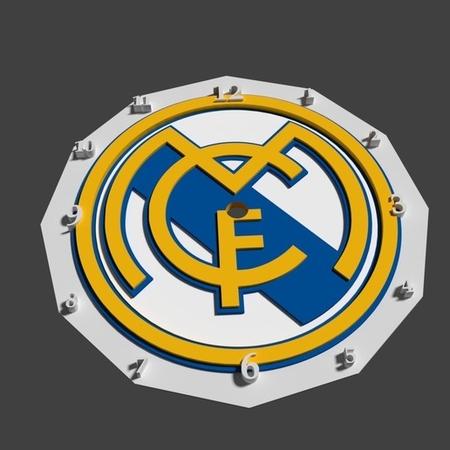 Real Madrid FC shield clock
