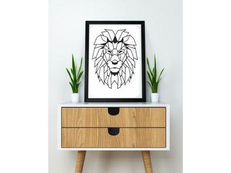 Lion Wall Sculpture 2D
