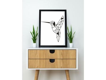 Colibri Humming Bird Wall Sculpture 2D