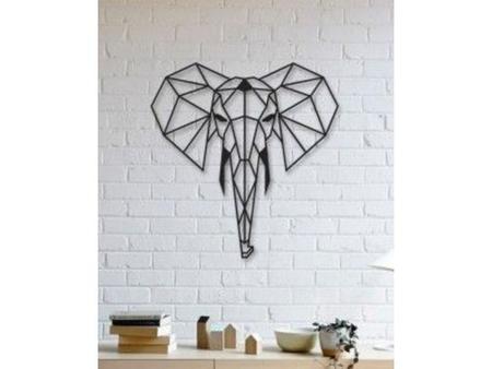 Elephant Wall Sculpture 2D