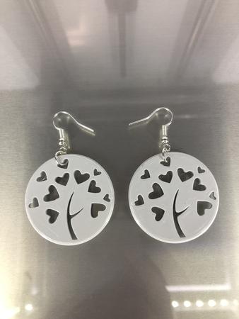 Heart tree earrings