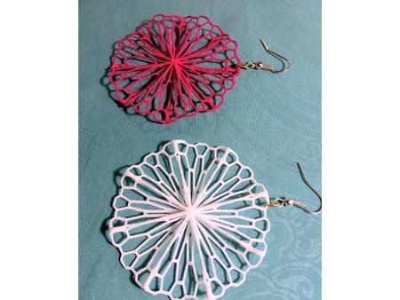 Mathematical Art: Crumpled Circle (Earrings)