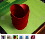 Twisted heart vase  3d model for 3d printers