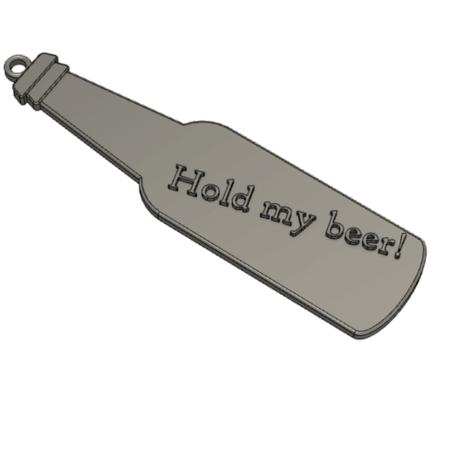 Mantenga mi cerveza! clave de la cadena colgante